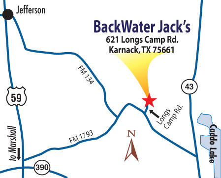 Map to Caddo Lake